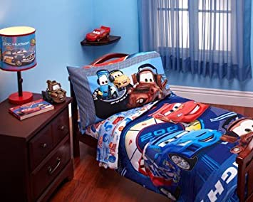 disney cars toddler bedding set uk. disney - cars max rev 4-piece toddler bed bedding set uk amazon.com