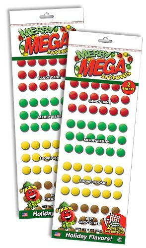 Merry Mega Buttons Candy - 2 Packages 288 ()