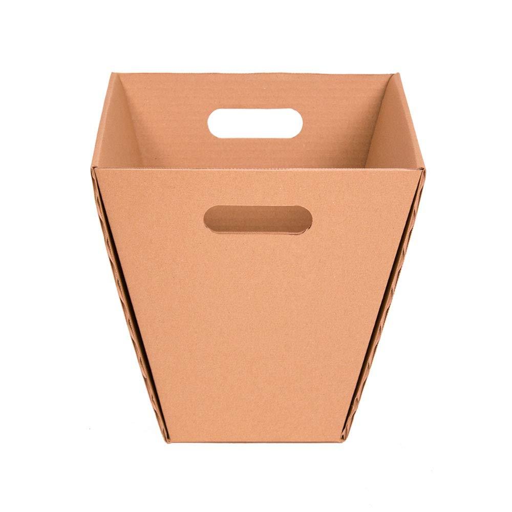 2 Unidades Papelera reciclaje peque/ña automontable Color marr/ón Kartox Papelera de cart/ón