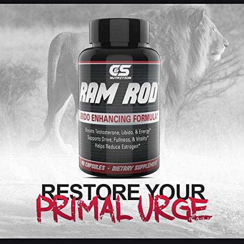 RAM ROD– Increase Drive, Increase Testosterone, Increase Energy. Premium Horny Goat Weed, Vitamins B6, DIM, Chrysin, Maca