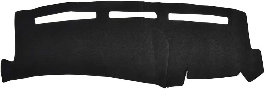Catinbow Black Center Console Cover Dash Mat Protector Sunshield Cover for 2001-2006 Chevy Silverado 1500 Carpet Dashboard Mat