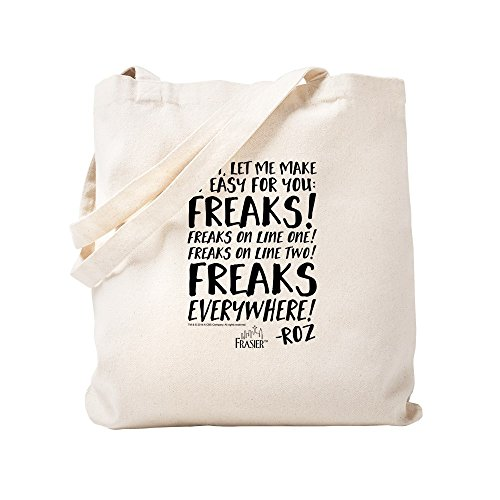 CafePress Frasier: Freaks! Roz Quote Natural Canvas Tote Bag, Cloth Shopping Bag