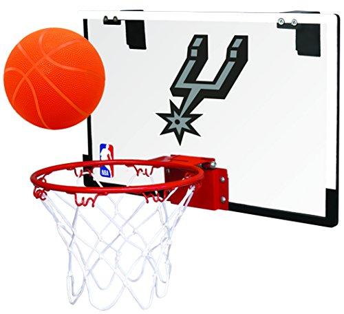 Rawlings NBA San Antonio Spurs 00664212111NBA Game On Polycarbonate Hoop Set (All Team Options), Black, - Set Spur