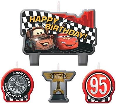 Amazon.com: Velas de cumpleaños de Cars, juego de 4 ...