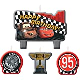 Cars Birthday Candles, 4 Count, Party Supplies