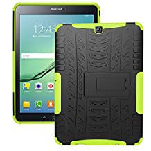 Tab S2 9.7 Case, iCoverCase [Heavy Duty] Hybrid Shock Proof Protective Case Dual Layer Armor Defender Rugged Drop Proof Cover with Kickstand for Samsung Galaxy Tab S2 9.7 SM-T815/SM-T810 (Green)