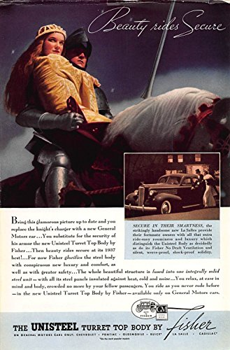 - Print Ad 1937 General Motors The Unisteel Turret Top Body By Fisher