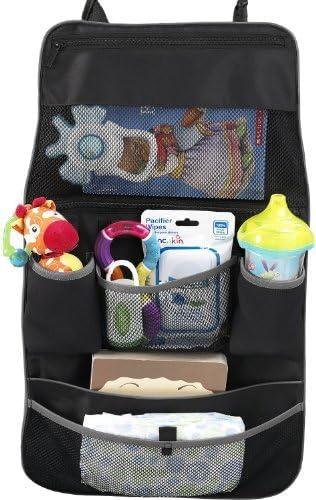 Munchkin Asiento Trasero Organizador, Negro/Gris (Pack de 1) Color: Negro y Gris Borde Talla: Pack de 1 (Bebé / Bebé / Bebé - Little Ones): Amazon.es: Bebé