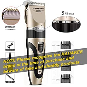HAHAKEE Professional Hair Clippers, Hair Cutting Machine for Men/Kids/Baby/Barber Grooming Cutter Kit, Waterproof…