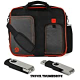 RED TRIM BLACK Pindar Durable Water-Resistant Nylon Protective Carrying Case Messenger Shoulder Bag For Acer Aspire S7 13.3-inch Touchpad Ultrabook BLACK 4GB Swivel Thumbdrive