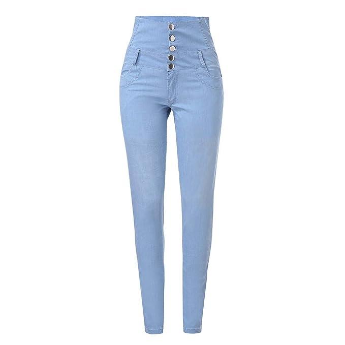 Women Jeans Butt Lift High Waist Jegging Pull-On Stretch ...