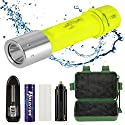 RedSun Diving Flashlight, Bright LED Submarine Light Scuba Safety Lights Waterproof Underwater Torch or Scuba Diving Outdoor Under water Sport