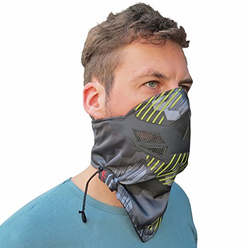 Half Face Mask for Cold Winter Weather. Use this Half Balaclava for Snowboarding, Ski, Motorcycle. (Many Colors)(Camo)