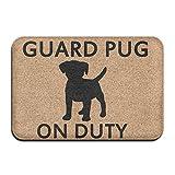 Wdef5f4sd5f Guard Pug On Duty Kitchen Bathroom Carpet