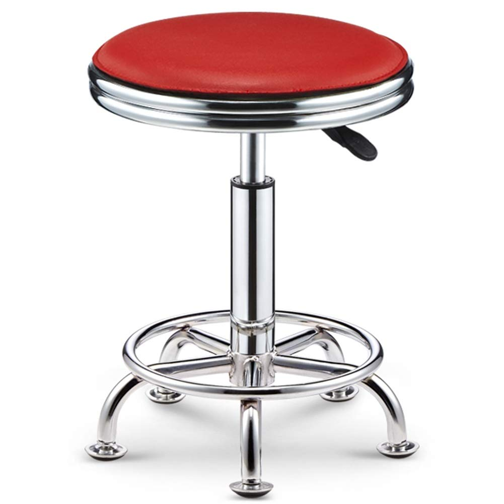 Red 38-50cm WEIYV-Chairs & Stools, Bar Table Chair Lifting redate Backrest Chair High Stool Bar Stool Beauty Stool Household Fashion Creative Round Stool (color   Black 38-50cm)