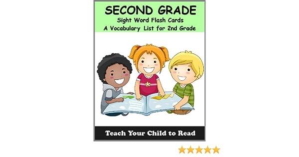 Amazon.com: Second Grade Sight Word Flash Cards: A Vocabulary List ...