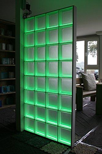 Glasbausteine dusche led  Light My Wall Duschabtrennung aus Glasbausteinen mit integrierter ...