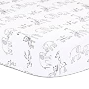 Elephant Park Jungle Theme Baby Crib Fitted Sheet by Little Haven