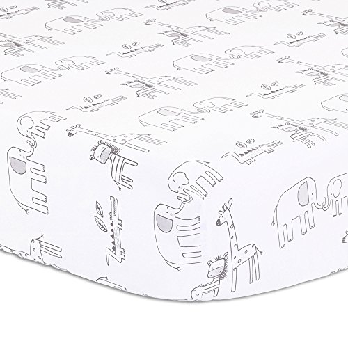 - Elephant Park Jungle Theme Baby Crib Fitted Sheet by Little Haven