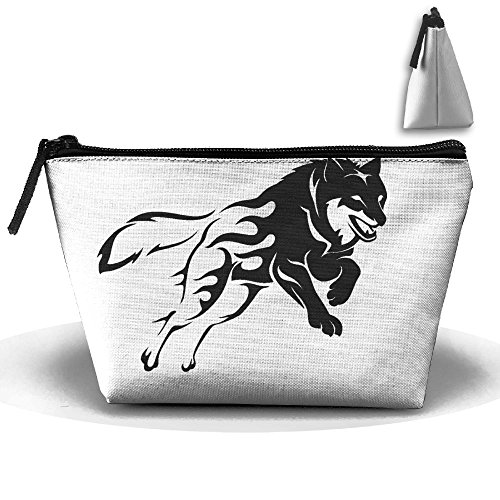 Express Yourself Wolf Makeup Bag Storage Portable Travel Wash Tote Zipper Wallet Handbag Carry Case