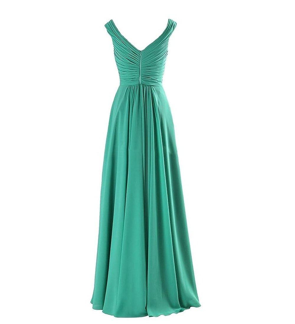 XGSD Womens Evening Dress Long Chiffon Evening Dress A-line Prom Bridesmaid Party Dress Vestidos de Novia at Amazon Womens Clothing store: