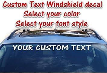 Custom Hashtag Text Vinyl Decal Car Truck Window Wall Glass Social Promo Sticker