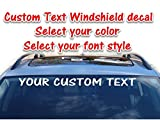 """Custom text vinyl windshield decal personalized window sticker banner 3.75""""x 36"""" for trucks cars"""