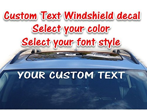 Custom text vinyl windshield decal personalized window sticker banner 3.75