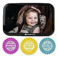Espejo para bebé para automóvil - Monitoree de manera segura al niño pequeño en la parte trasera Asiento de automóvil - Vista amplia Acrílico ajustable a prueba de golpes 360 ° para el asiento trasero - Los mejores accesorios para asientos de automóvil