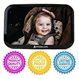 Baby : Baby Mirror for Car - Safely Monitor Infant Child in Rear Facing Car Seat - Wide View Shatterproof Adjustable Acrylic 360°for Backseat - Best Newborn Car Seat Accessories - by Snookums