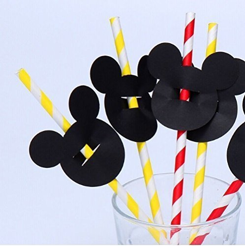 (CharmTM 25 pieces/lot Straw Toppers Black Confetti - Mouse Confetti, Table Decor)