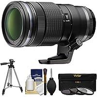 Olympus M.Zuiko 40-150mm f/2.8 Pro Digital Zoom Lens with Tripod + 3 Filters Kit for OM-D E-M5, E-M1, E-M10, Pen E-P5, E-PL5, E-PL7, E-PM2 Cameras