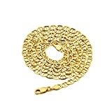 LoveBling 10K Yellow Gold Solid Mariner Chain Necklace with Lobster Lock, Available in 2.5mm to 6mm, 16'' to 30'' (30, 4mm)