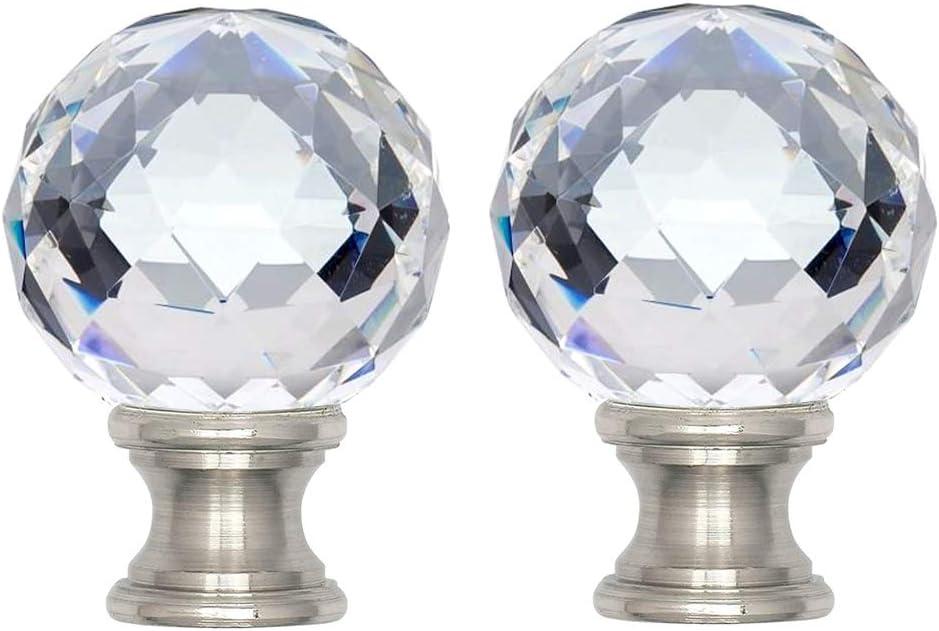LAMP FINIAL GLOW IN THE DARK Sphere Ball Plastic Topper  Brass Hardware 38C