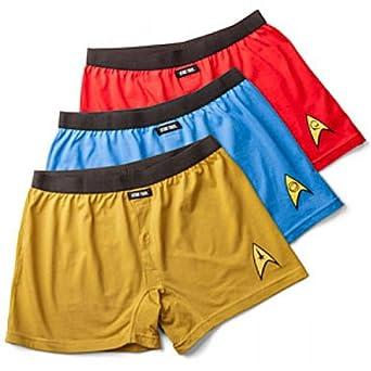 a9b488e02a Set of 3 Star Trek Uniform Boxers, Captain Kirk, Scotty, & Spock at ...