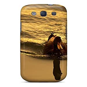 Awesome Design Duck Swimming Water Hard Case Cover For Galaxy S3