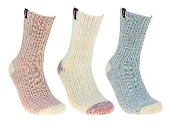 Pajar Women's Winter Boot Socks, 3-Pack at Amazon Women's