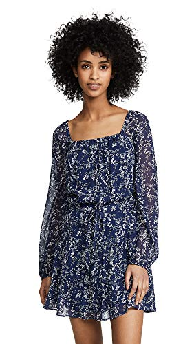 PAIGE Women's Marjoram Dress, Dark Ink Blue Multi, X-Small
