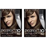 Clairol Perfect 10 By Nice 'N Easy Hair Color Kit (Pack of 2), 006 Light Brown Chocolate Shake, Includes Comb Applicator, Long Lasting