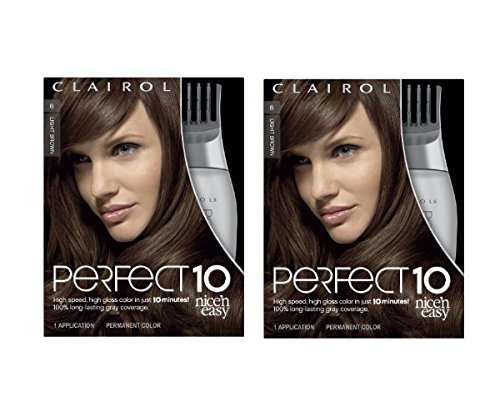 clairol-perfect-10-by-nice-n-easy-hair-color-006-light-brown-chocolate-shake-1-kit-pack-of-2