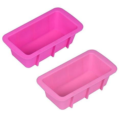 jaminy silicona Pan de molde para tartas para hornear molde antiadherente para horno rectangular molde