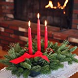 Worcester Christmas Wreath Classic 3-Candle Christmas Centerpiece