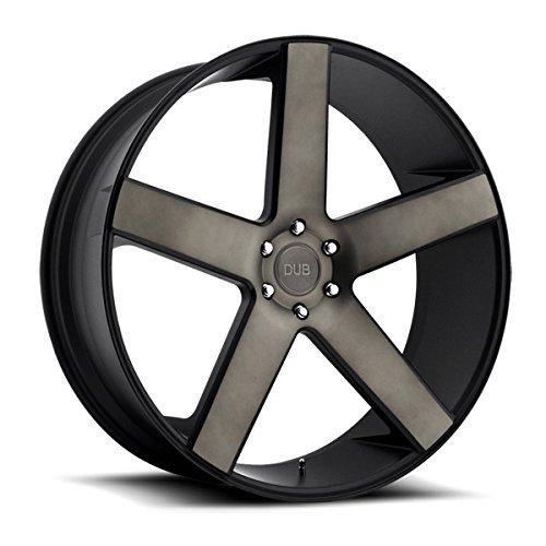DUB Baller 22 Black Flake Wheel / Rim 6x5.5 with a 31mm Offset and a 78.1 Hub Bore. Partnumber - Wheels Dub