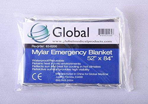 Waterproof Windproof Mylar Emergency Blanket 52 X84
