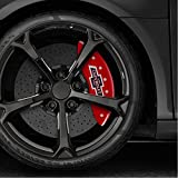 #8: Auto Reflections Red Caliper Covers Set of 4 100 Anniversary logo For 2018 Chevy Tahoe