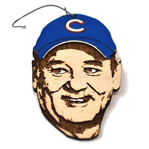 Bill Cubs Fan Christmas Ornament | World Series Commemorative Rear View Mirror Hanging | Hand-Painted Unique Holiday Gift (Novelty Commemorative)