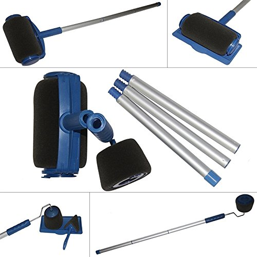 Leoie Paint Roller Brush Set Wall Painting Handle Tool Home Ofiice Room Multifunction Painting Supplies 6PCS