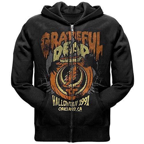 (Old Glory Grateful Dead - Mens Halloween '91 Zip Hoodie - Small)