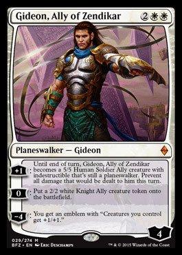 Magic: the Gathering - Gideon, Ally of Zendikar (029/274) - Battle for Zendikar - (Mtg Zendikar Foil)