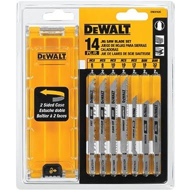 DEWALT DW3742C 14-Piece T-Shank Jig Saw Blade Set with Case